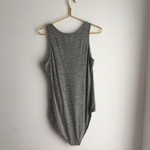 Madewell Tops - Madewell Gray knit tank top Bodysuit